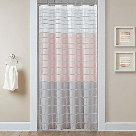 Demi Shower Curtain In Blush Curtains Shower Curtain Gray