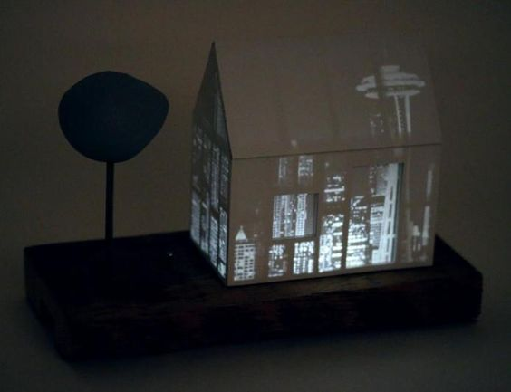 We can't all have that dreamy Seattle view like Frasier Crane. You can get a little closer, though, with this charming house that lights up with the fabulous Seattle skyline! Limited edition for www.mooreaseal.com.