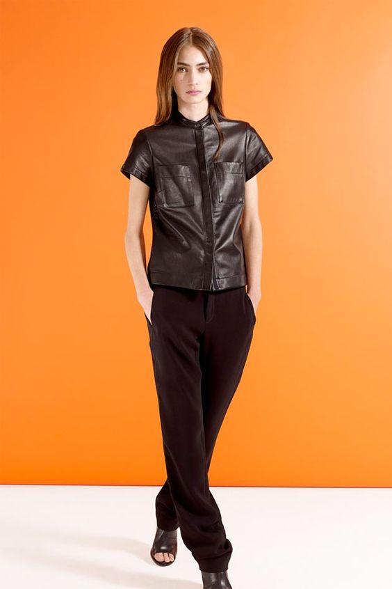 E blusas de couro continuam sendo um dos itens mais-mais da estação