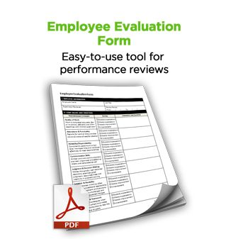Employee Evaluation Form Free Hr Tool  Business