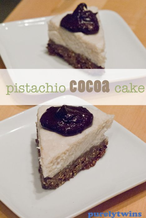 pistachio-cocoa-cake @pure2raw #fitfluential
