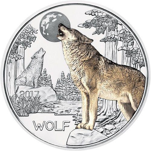 3 Euro Tier Taler Tiere Wolf Und Osterreich