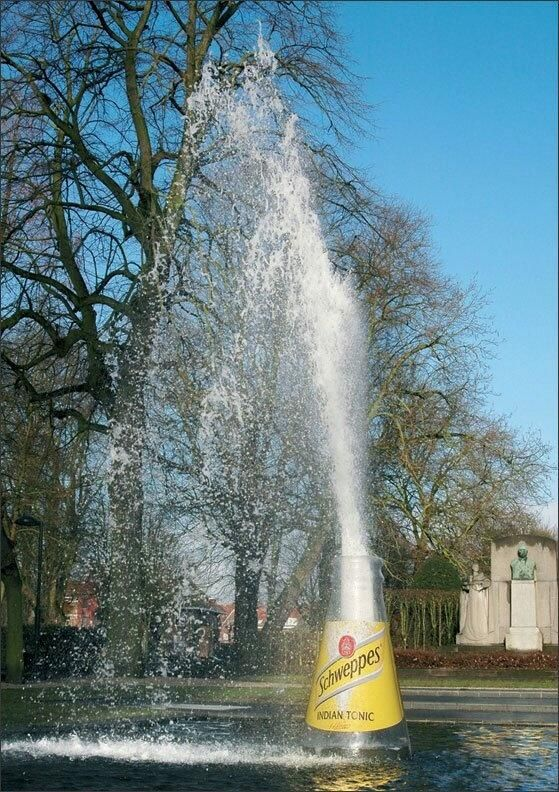 Schweppes fountain guerilla marketing
