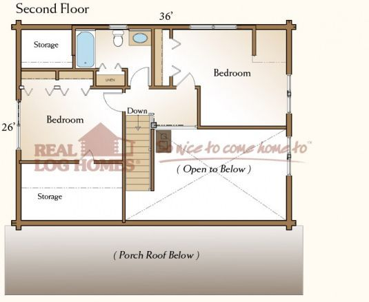 The Sonora (03W0013) | Real Log Homes Floor Plan | Home Decor ...