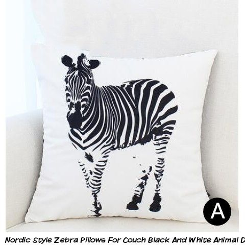 Nordic Style Zebra Pillows For Couch