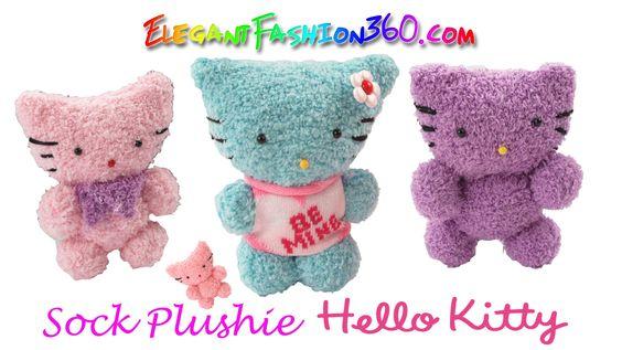 DIY Sock Plushie Hello Kitty/Kawaii Kitty/Stuffed Animal - How to