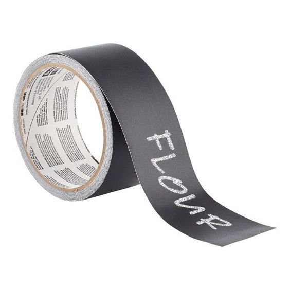 Our 3M Scotch® Chalkboard Label Tape makes labeling anything as easy as writing on a chalkboard! The tape works just like a chalkboard and can be cut to fit.