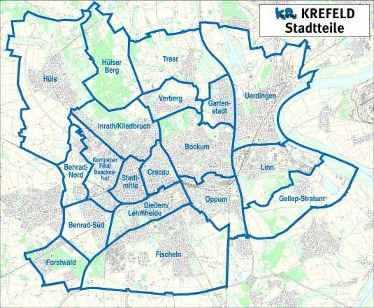 Krefeld Karte Karte Krefeld Krefeld Karten Alte Karten