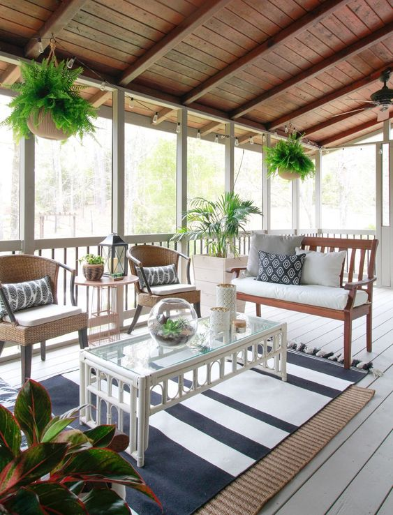 Stunning Sunroom Style Ideas. Sunroom additionally called a sun room, sun porch or sunroom, as well as it is a structure that is usually improved the side of your house. It enables you to appreciate as well as delight in the surroundings and views when sheltered as well as protected from rainfall, wind as well as various other weather conditions. so you can delight in the gorgeous view of the outdoors without fretting about rainfall. #sunroomideas