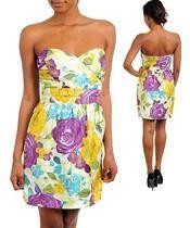 Multicolor Floral Print Dress