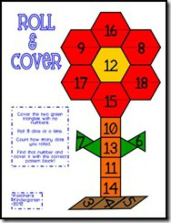 40 Roll And Cover Bump Cool Math Games Fun Math Preschool