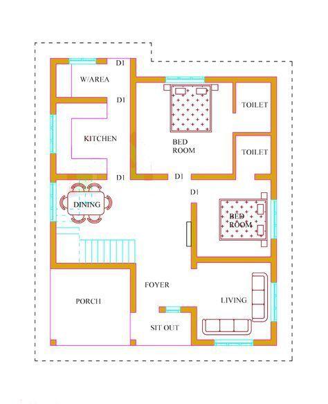 Kerala House Plans With Estimate 20 Lakhs 1500 Sq Ft Kerala House Design House Plans With Photos Beautiful House Plans