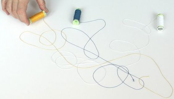 """Hreinn Fridfinnsson  A 2011 piece called """"Untitled (Twine)"""" lets us watch as Fridfinnsson makes a """"drawing"""" by slowly unspooling skeins of colored thread."""