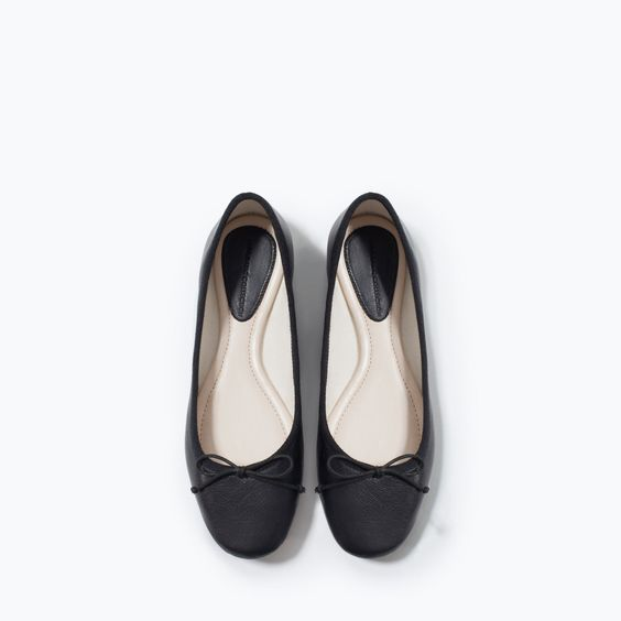 ZARA - SHOES & BAGS - LEATHER BALLERINA