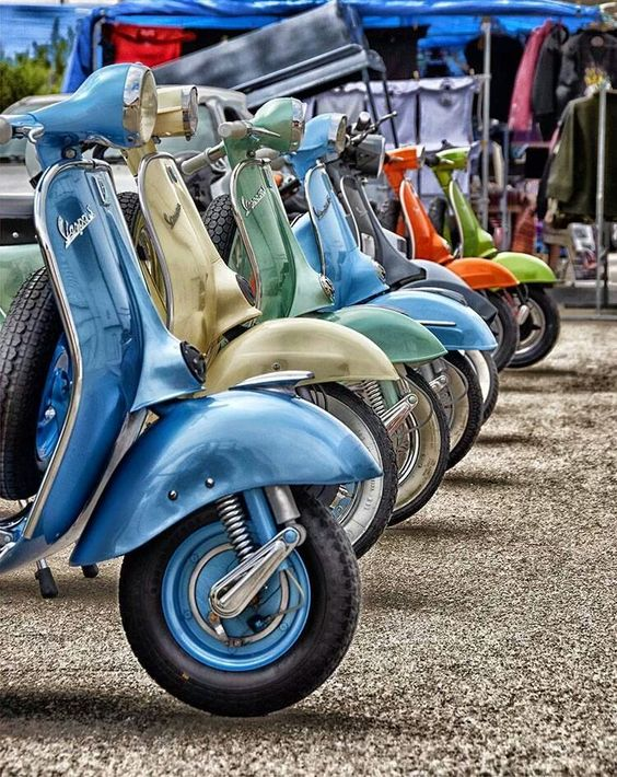 It's Vespa...in multiple shades of color...certainly one will match your rainbow.