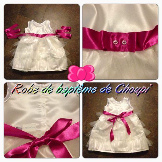 Christening gown/Robe de baptême www.marjeeva.com