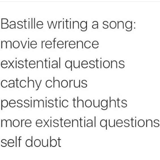 Bastille writing a song...