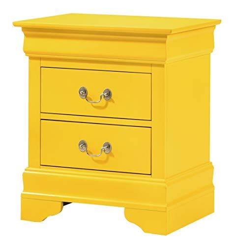 Glory Furniture Hammond Bedroom Furniture 2 Drawer Nightstand Yellow In 2020 Yellow Nightstand 2 Drawer Nightstand Nightstand