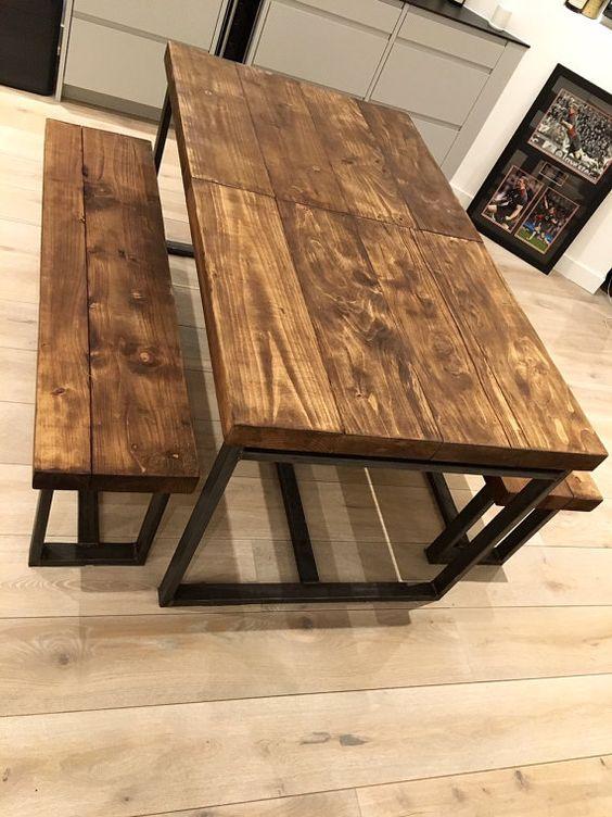 Chic Industrial recuperada 6-10 plazas madera por RccFurniture