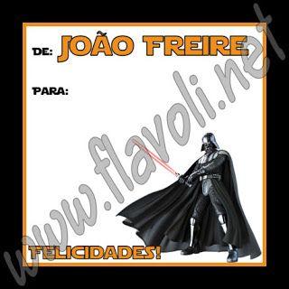 Etiqueta Darth Vader  :: flavoli.net - Papelaria Personalizada :: Contato: (21) 98-836-0113 vendas@flavoli.net