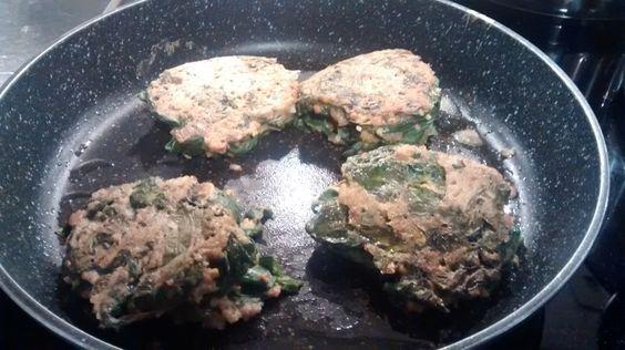 Galettes de boulghour, épinards et châtaigne - sans gluten