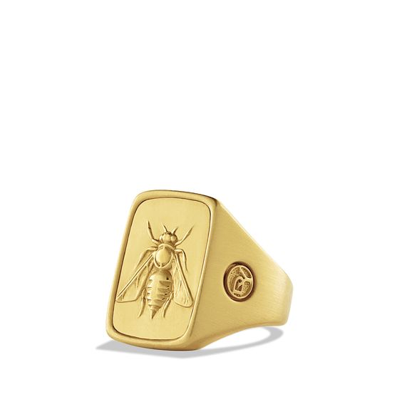 Petrvs Bee Signet Ring In Gold Rings Pinterest Gold