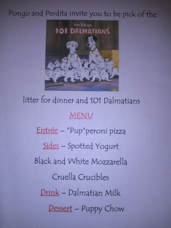 Disney Dinner Nights - 101 Dalmatians
