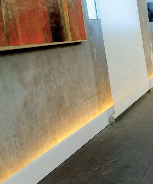 rope lighting and these baseboards create a subtle diffused glow baseboard lighting