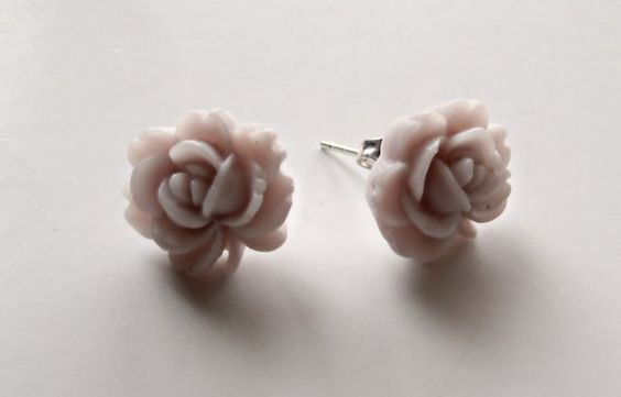 EarringsAntique RoseFrosted Lavender by AliGraceFashions on Etsy, $6.50