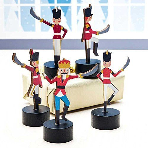 Design Ideas Nutcracker Wooden Miniature Soldier Figurines (Set/5)
