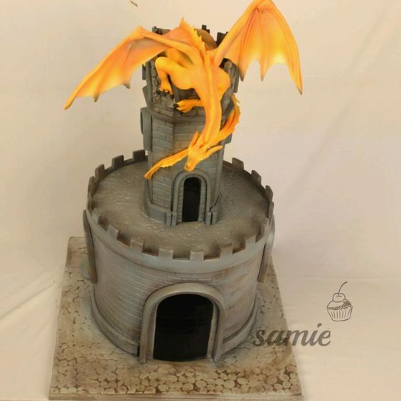 dragon cake by samie