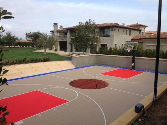 Backyard Basketball Court Hobby Pinterest Backyards