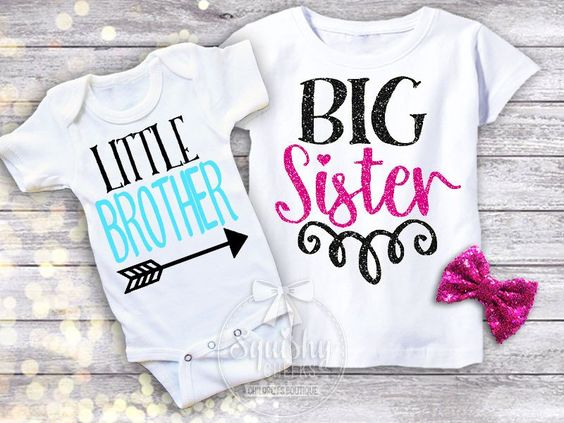 new brother personalised hexagon sister n brother set personalised siblings big sister little brother pink /& navy sibling shirts