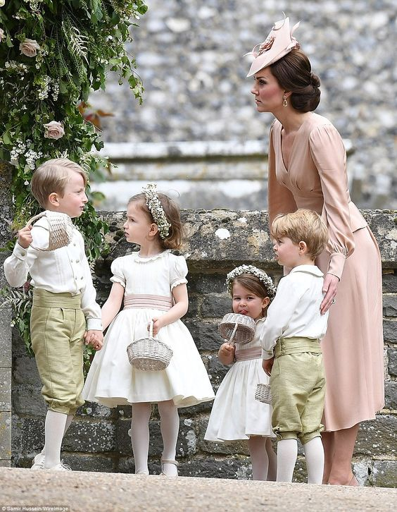 George and Charlotte were escorted by their mother the Duchess of Cambridge who was a visi...:
