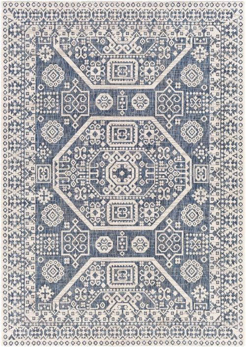 Windaroo Wndwr With Colors Bright Blue Bright Blue Navy Pale Blue White Machine Woven 100 Polypropylene Global Made In Tur In 2020 Blue And White Rug Rugs Area Rugs