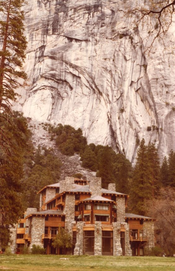 Ahwahnee Hotel, Yosemite ;-)   -- [REPINNED by All Creatures Gift Shop] The ULTIMATE log cabin in the woods!