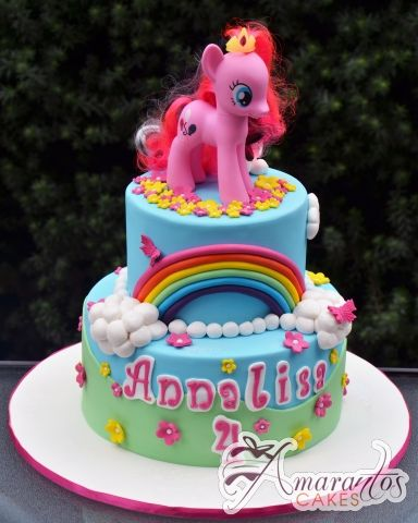 little pony cake two tier my pony cake nc672 amarantos cakes 5565