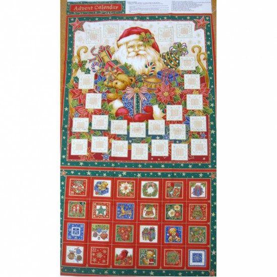 Santa Claus Christmas Bunting 100/% Cotton Quilting Panel Fabric