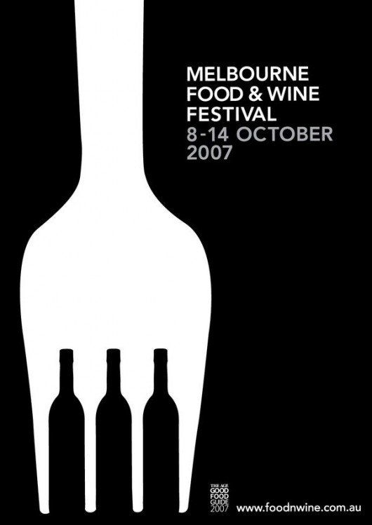 "FGR allows for one ""design"" to represent the two aspects of this festival; food and wine, by creating the prongs of the fork with wine bottles"