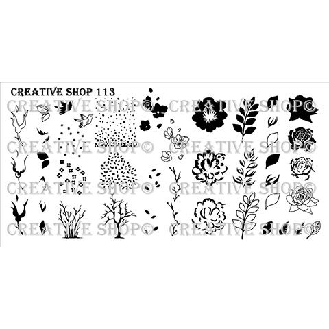 COMING SOON Creative Shop- Stamping Plate- 113