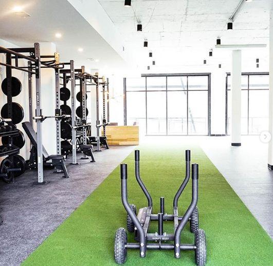 Tank Sled Zone Gym Design Commercial Gym Design Gym Design Interior