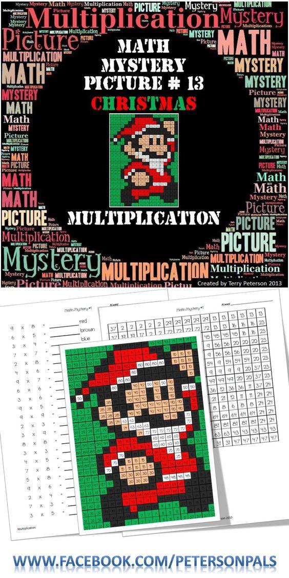 Christmas Math Worksheets Multiplication Tree  Math