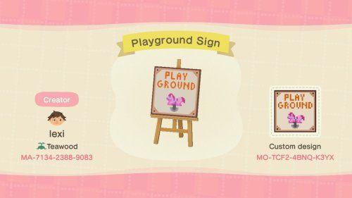 Acnh Playground Acnh Custom Designs In 2020 New Animal Crossing Animal Crossing Qr Animal Crossing Game