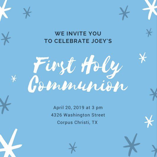 First Communion Invitation Template Elegant First Munion Invitation Templates Canva First Communion Invitations Communion Invitations Party Invitation Maker
