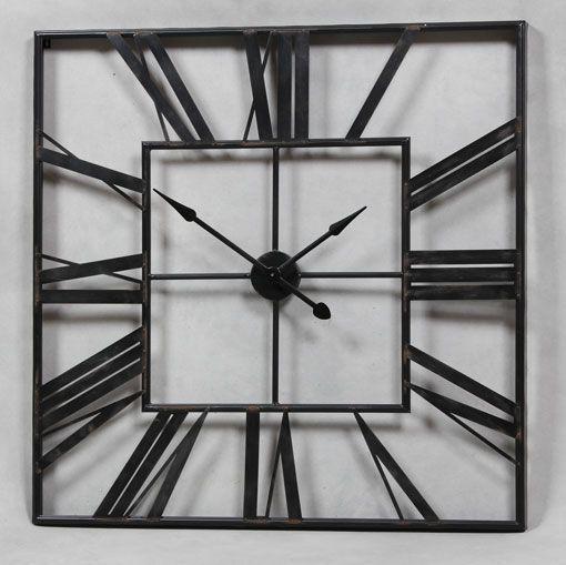 Square Roman Black Wall Clock Large Wall Clock Black Wall Clock Wall Clock