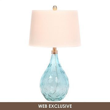 turquoise glass table lamp products lamps and tables. Black Bedroom Furniture Sets. Home Design Ideas
