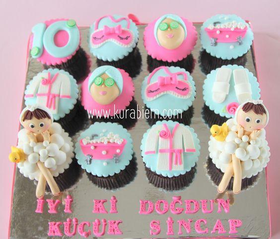 Spa cupcakes , hamam cupcakeleri,