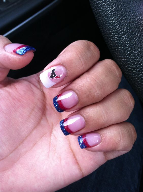 Houston Texans Nails By Too Q Spa Fb Pinterest And Nail
