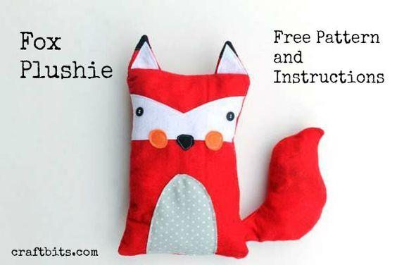 Make a Fox Plushie Soft Toy — craftbits.com