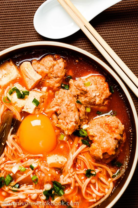 Kimchi Tofu Meatball Stew | Recipe | Tofu Meatballs, Meatball Stew and ...